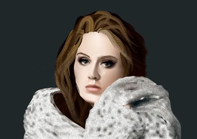 Adele – Ilustración vectorial