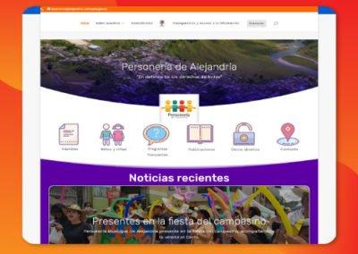 Web Personería de Alejandría Antioquia