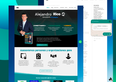 Diseño de Sitio web e-commerce www.alejandrorico.com.co