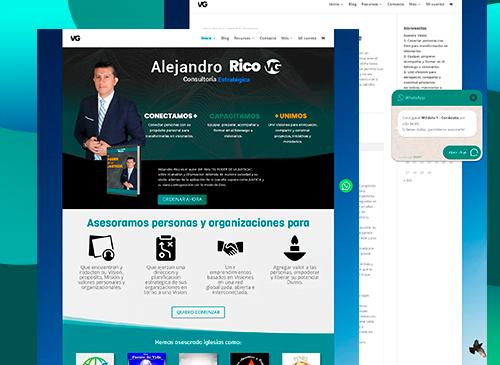 Diseño de Sitio web e-commerce www.alejandrorico.com.co