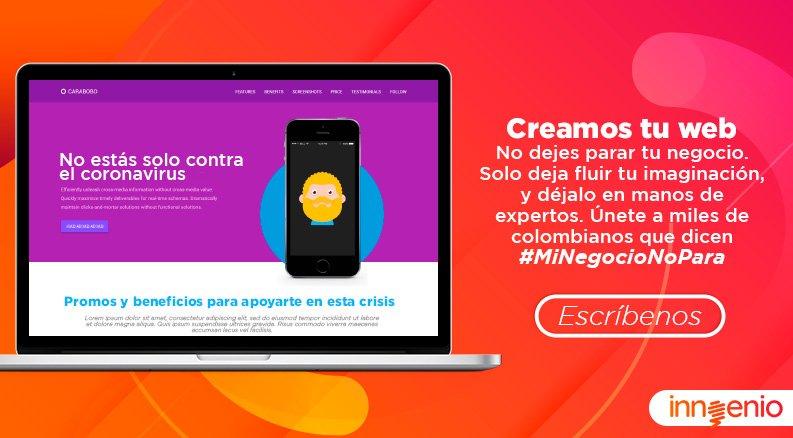 Digamos #minegocionopara con tu propia página web