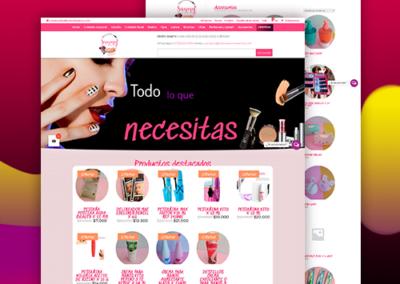 Sitio web con tienda virtual para MILACCESORIOSSANMY
