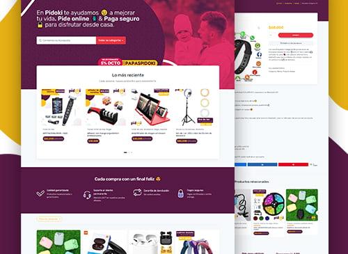 Página web para www.pidoki.co