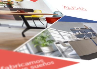 Brochure de productos para ALPHA Home and Office Design