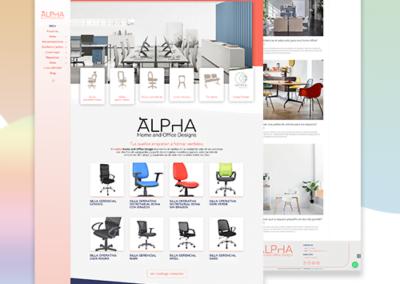 Sitio web – Catálogo virtual para ALPHA Home & Office Design