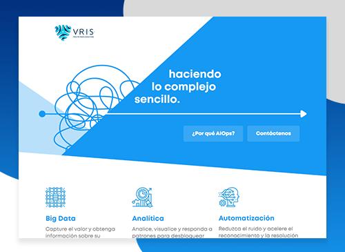 Landing Page para VRIS